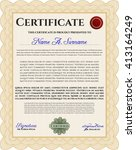 orange certificate. detailed....   Shutterstock .eps vector #413164249
