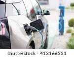 power supply for electric car... | Shutterstock . vector #413166331