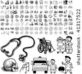 medical set of black sketch.... | Shutterstock .eps vector #41317522