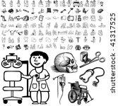 Medical Set Of Black Sketch....