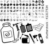 medical set of black sketch.... | Shutterstock .eps vector #41317534