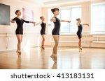 young dancers in ballet class  | Shutterstock . vector #413183131
