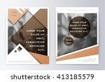 business brochure. brochure... | Shutterstock .eps vector #413185579