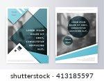 business brochure template.... | Shutterstock .eps vector #413185597