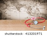 capsule and  stethoscope with...   Shutterstock . vector #413201971