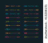 collection of hipster arrows.... | Shutterstock .eps vector #413208151