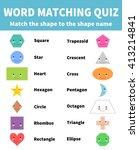 word matching quiz. match the...   Shutterstock .eps vector #413214841