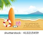summer beach | Shutterstock .eps vector #413215459
