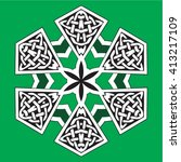 celtic design element | Shutterstock .eps vector #413217109