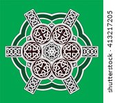 celtic design element | Shutterstock .eps vector #413217205
