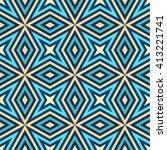 mediterranean geometric... | Shutterstock .eps vector #413221741