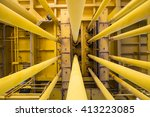 well casing and well slot  pipe ... | Shutterstock . vector #413223085