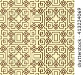 seamless pattern in islamic... | Shutterstock .eps vector #413224069