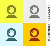 web cam icon on four different... | Shutterstock .eps vector #413242054