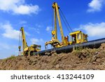on the pipeline repairs | Shutterstock . vector #413244109