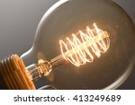 close up glowing vintage light... | Shutterstock . vector #413249689