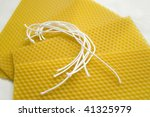 working with beeswax | Shutterstock . vector #41325979
