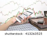 close up hand of business girl... | Shutterstock . vector #413263525