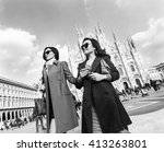 beautiful and stylish women... | Shutterstock . vector #413263801