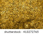 texture of gold marble slab... | Shutterstock . vector #413272765