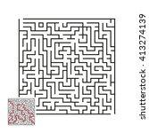 vector labyrinth 7 | Shutterstock .eps vector #413274139