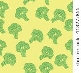colorful seamless cartoon... | Shutterstock .eps vector #413275855