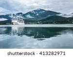Cruise Ship At A Port In Junea...
