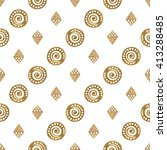 hand drawn seamless pattern.... | Shutterstock . vector #413288485