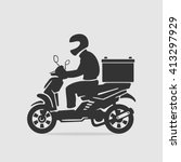 bike food delivery vector | Shutterstock .eps vector #413297929