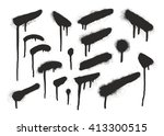 spray paint elements set 17 | Shutterstock .eps vector #413300515