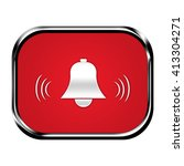 alarm button isolated | Shutterstock . vector #413304271