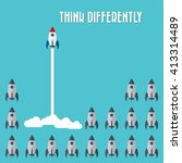think differently   being... | Shutterstock .eps vector #413314489