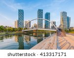 Incheon,Central Park in Songdo International Business District , South Korea.