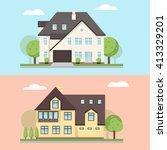 vector illustration of two... | Shutterstock .eps vector #413329201