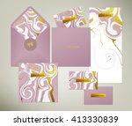 wedding print set. invitation... | Shutterstock .eps vector #413330839