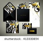 wedding print set. invitation... | Shutterstock .eps vector #413330854