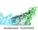 Abstract Green And Blue Smoke...
