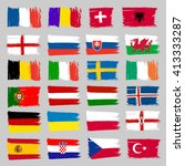 set of european flags | Shutterstock .eps vector #413333287