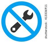 restricted repair vector icon.... | Shutterstock .eps vector #413336911