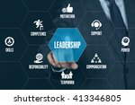 leadership technology... | Shutterstock . vector #413346805