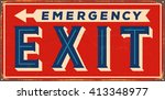 vintage metal sign   emergency... | Shutterstock .eps vector #413348977
