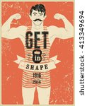 Get In Shape. Typographic Gym...