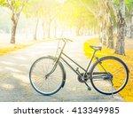 vintage bicycle | Shutterstock . vector #413349985