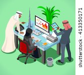arab businesspeople society... | Shutterstock .eps vector #413350171