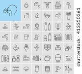 water treatment process... | Shutterstock .eps vector #413350261