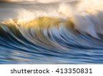 waves on the ocean captured...   Shutterstock . vector #413350831