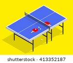 isometric table tennis with... | Shutterstock .eps vector #413352187