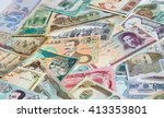 variety of middle east banknotes | Shutterstock . vector #413353801