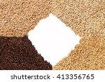 closeup view of 4 kinds of malt ... | Shutterstock . vector #413356765
