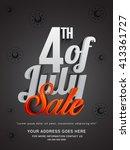 vector illustration of 4th of... | Shutterstock .eps vector #413361727
